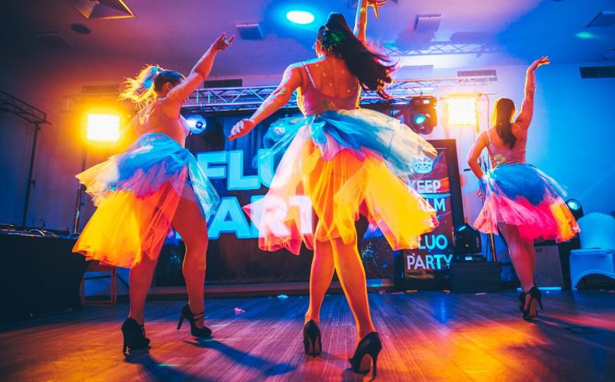 fluo dancers, colours, impreza firmowa fluo