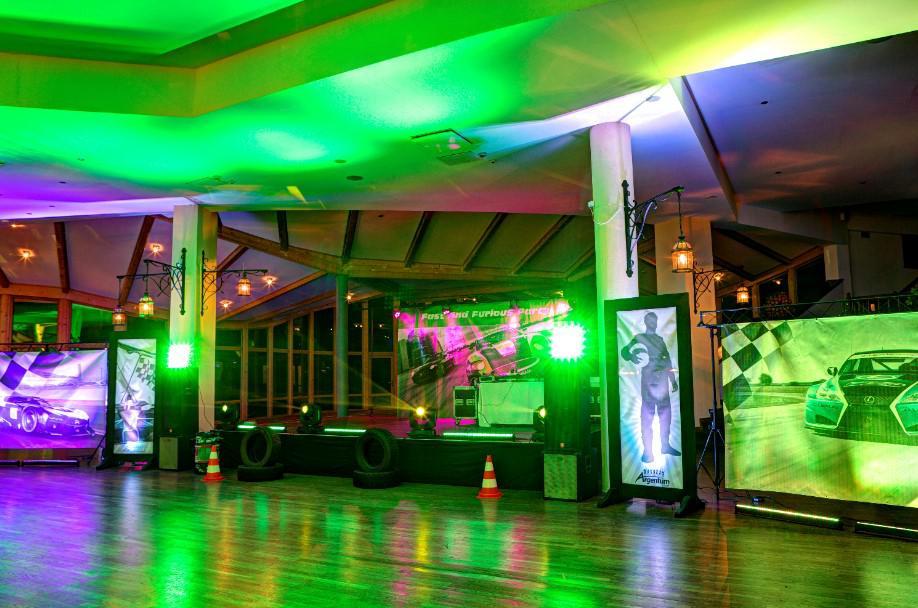 sala imprezowa, szybcy i wściekli party