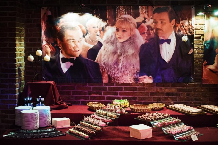 Wielki Gatsby na ekskluzywnej imprezie, catering VIP