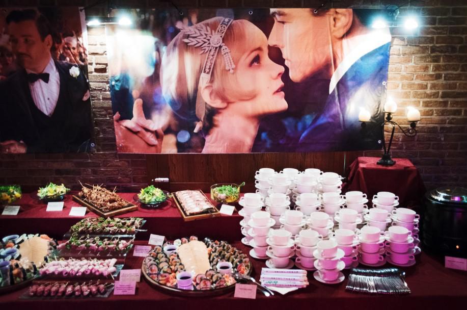 catering na imprezie tematycznej, impreza w stylu gatsby