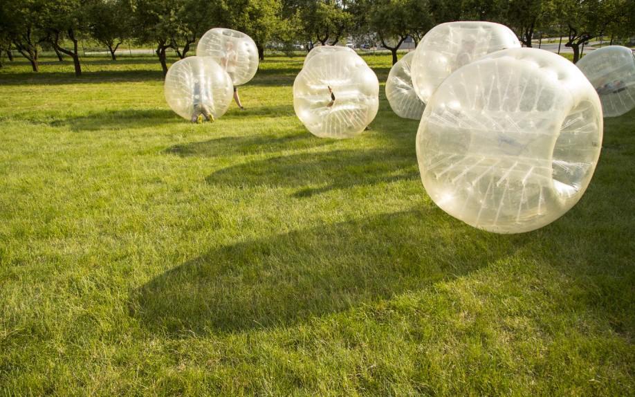 bubble, piłka, atrakcja piknikowa