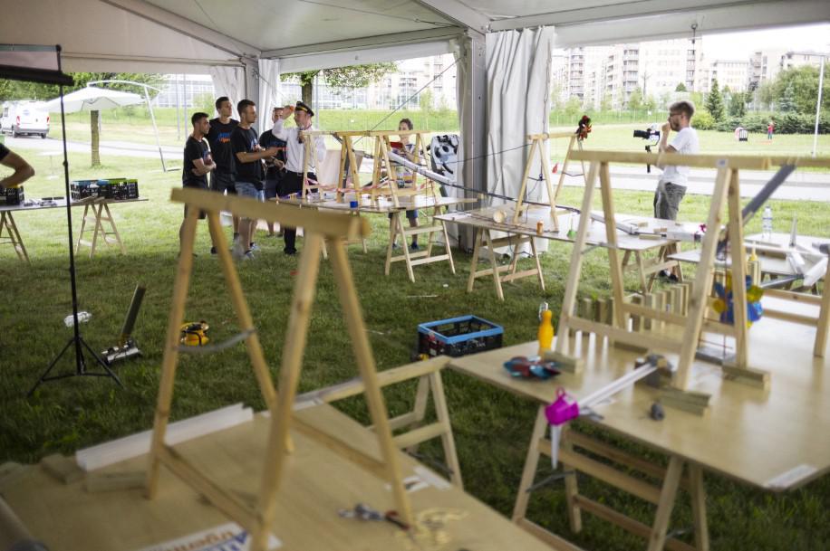 maszyna goldberga, atrakcja eventowa, piknik