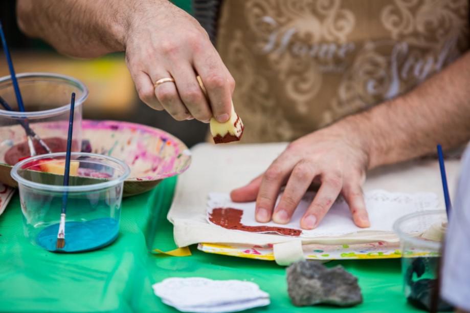 malowanie eko toreb, event firmowy