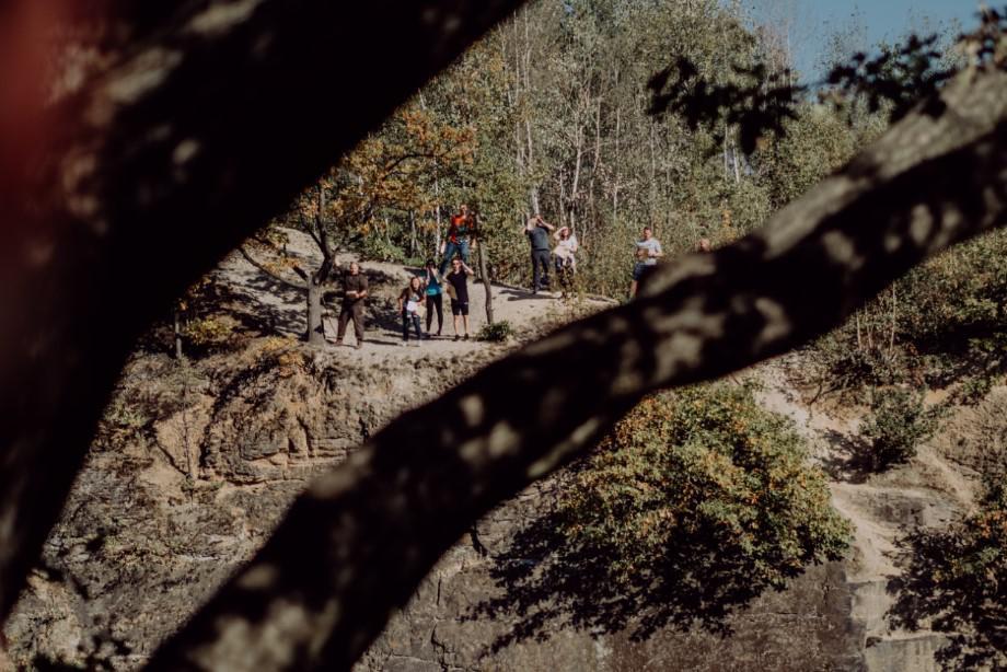 terenowa zabawa integracyjna, integracja w lesie