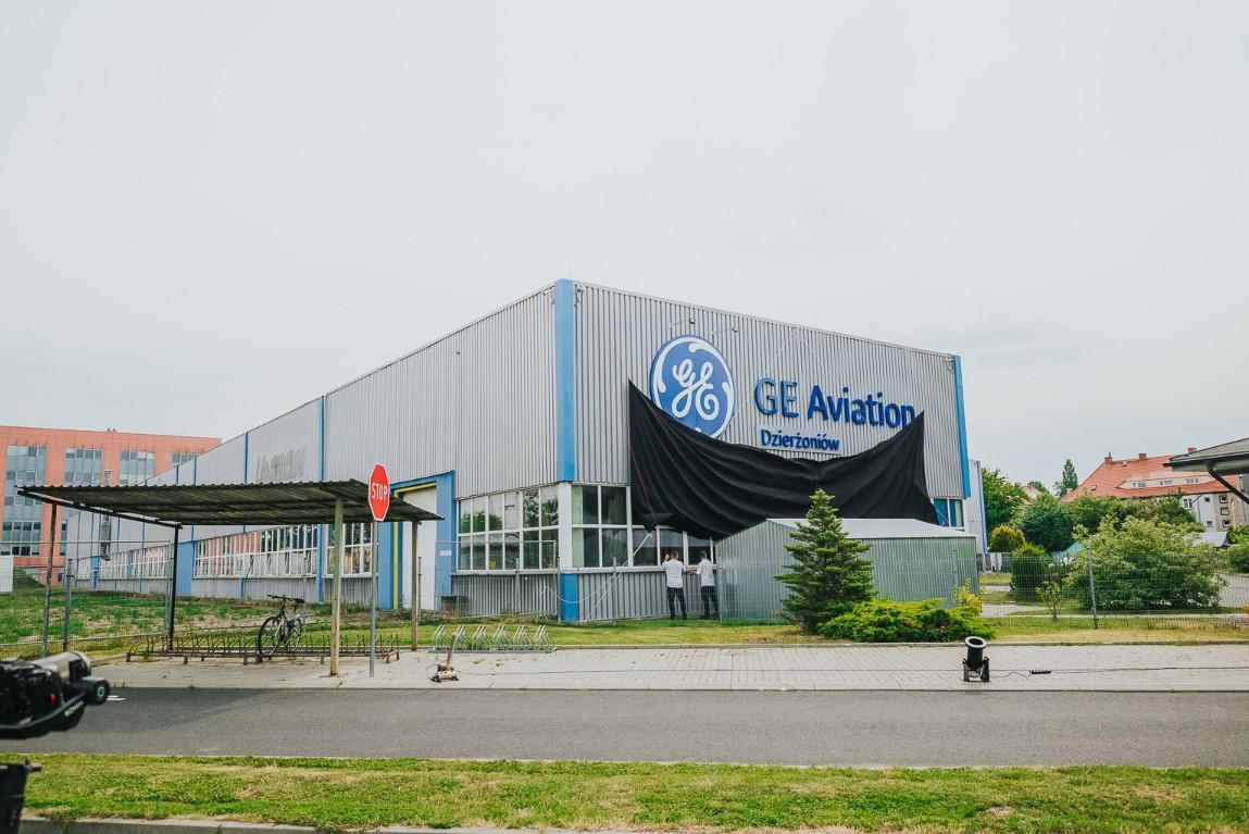 odsłonięcie loga GE Aviation