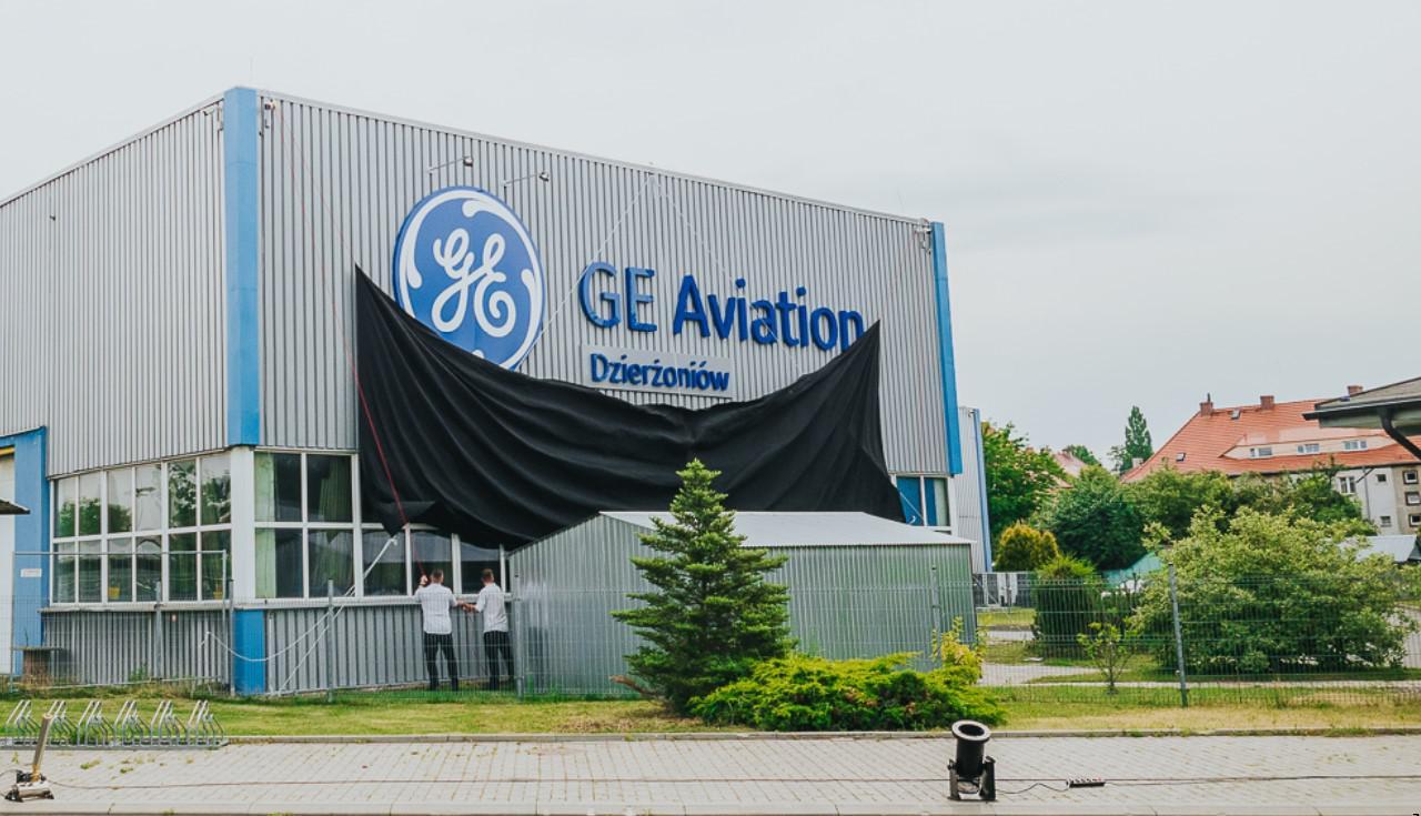 odsłonięcie loga GE