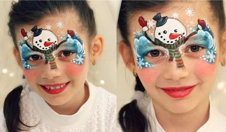 malowane twarze dzieci
