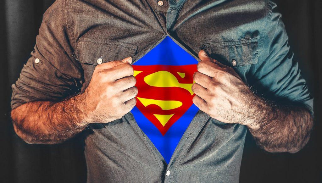 superman, przebierana impreza firmowa