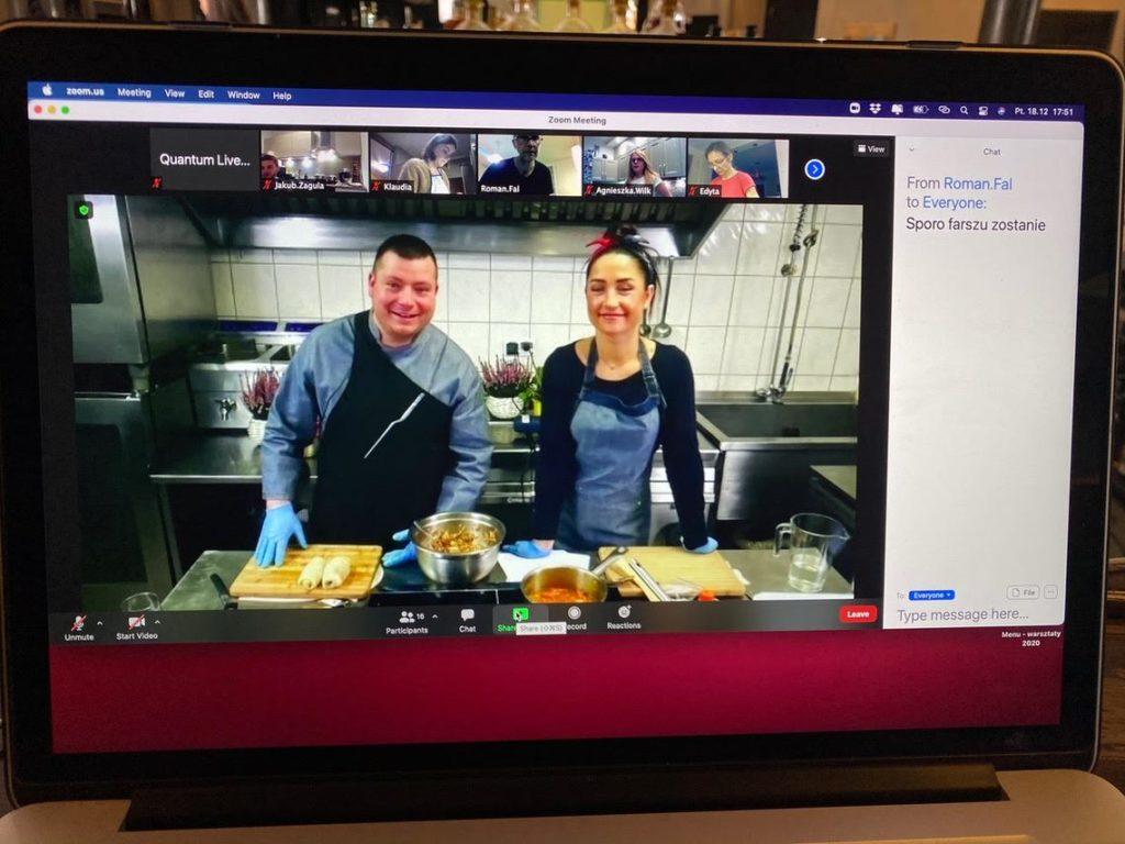 warsztaty kulinarne, event integracyjny online