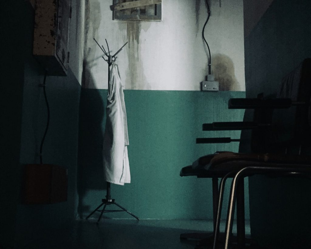 escape room online, pokój szpital psychiatryczny