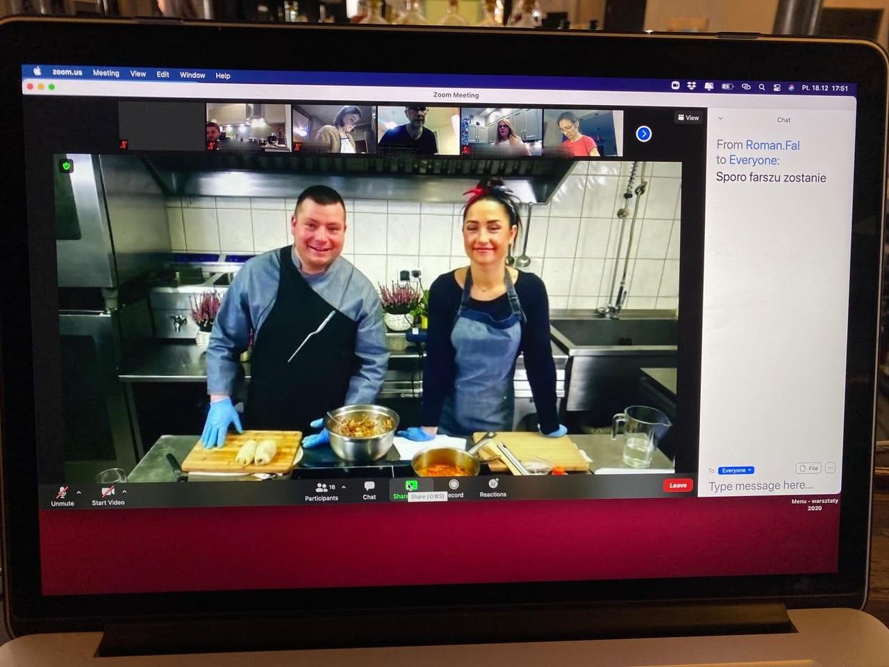 warsztaty kulinarne przez Internet
