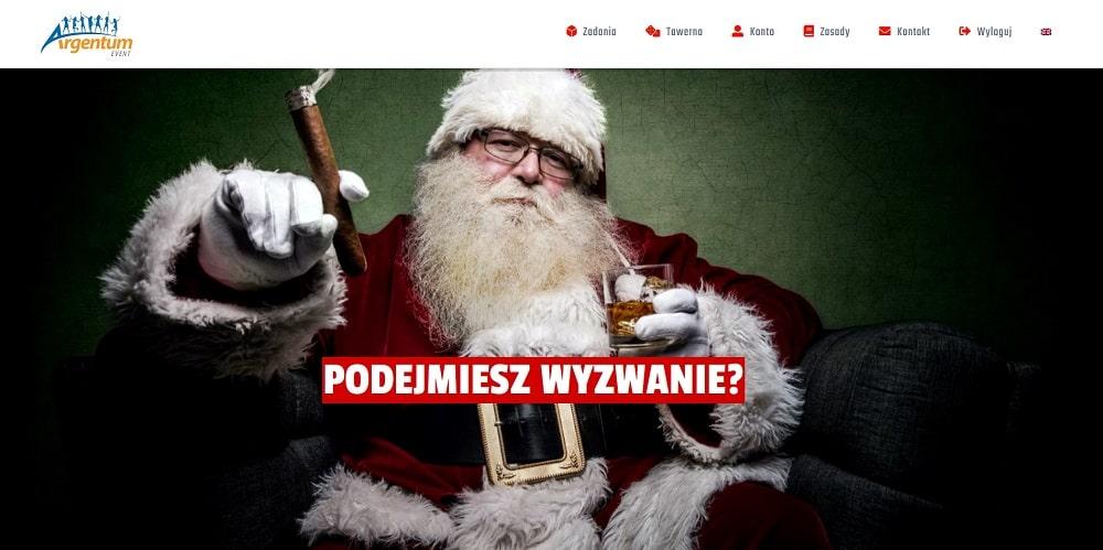grywalizacja świąteczna online, santa claus